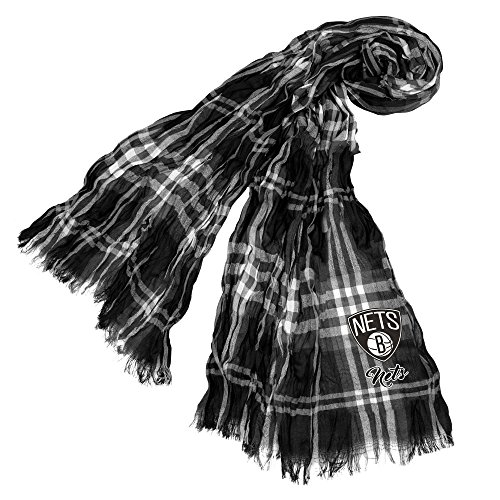 Littlearth NBA Brooklyn Nets Plaid Crinkle Scarf by Littlearth