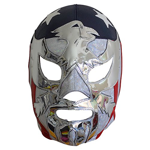Deportes Martinez Patriot America Semi-Professional Lucha Libre Wrestling Mask Adult Luchador Mask Costume Wear Pro by Deportes Martinez