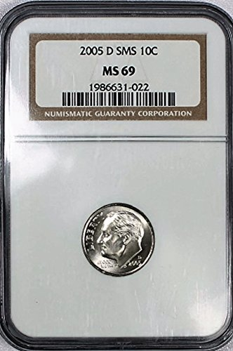 2005 D SMS Roosevelt Dime 10c MS66 NGC