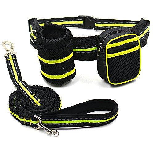 Dog Bicycle Carrier – Bicycle Dog Carrier – Dog Carrier Bicycle – Portable Dog Training Running Waist Bag Set Detachable Pup Dog Carrier Feed Pocket With Stretch Leashes Snack Reward Waist Bag.