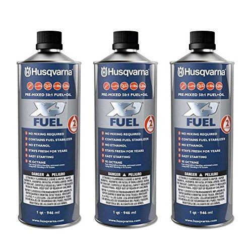 Husqvarna 2 Stroke & Fuel 50:1 Pre - Mixed Ethanol Pack Of 3 Quarts