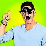 : Pirate Halloween Costume Party Mustache Sunglasses Sun-Stache