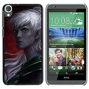FlareStar Colour Printing Elf Grey Woman Fairytale Game Crimson cáscara Funda Case Caso de plástico para HTC Desire 820