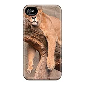Hot Style QbbOBfW6355uffIU Protective Case Cover For Iphone4/4s(lazy Lion) by lolosakes