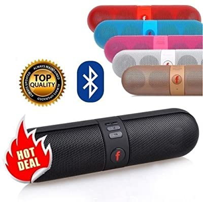 [Black] Best Seller Wireless Stereo Bluetooth Speaker Portable FM Super Bass For Smartphone Tablet Pill, Sleek Design, Great for Indoor and Outdoor Use
