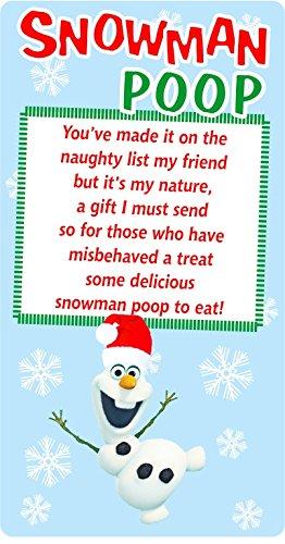 Christmas Poem Snowman Poop Sticker Label Business Xmas Fun