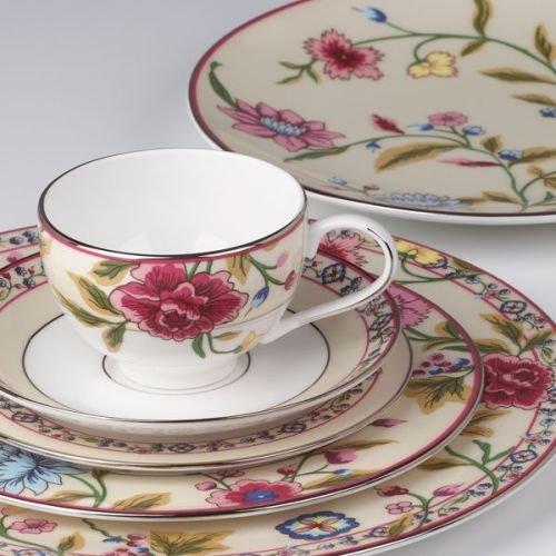 Floral Elegance Platinum Dinner Plate - Scalamandre By Lenox Bouvier 5 Pps