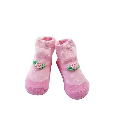 ACVIP 1 Paire Bébé Filles Garçons Mignon Chaussettes Coton Motif Fleur 6-24 Mois