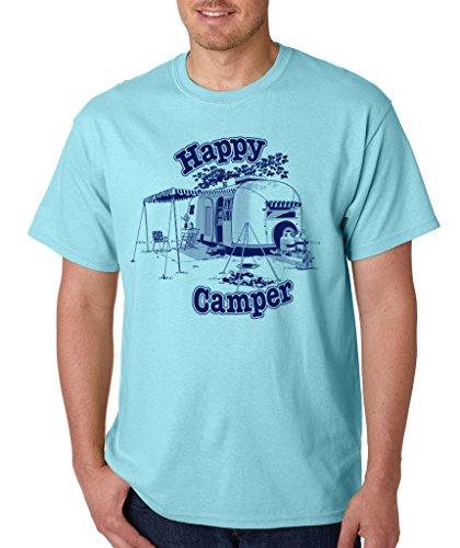 SignatureTshirts Men's Happy Camper T-Shirt XL Sky