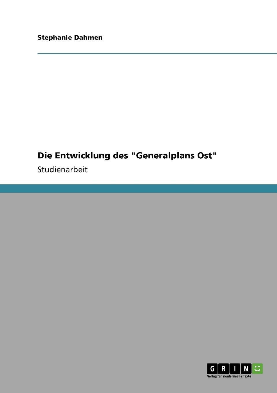 """Download Die Entwicklung des """"Generalplans Ost"""" (German Edition) pdf"""