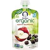 Gerber Organic 2nd Foods Baby Food, Apples & Blackberries, 3.5 oz Pouch, 12 count