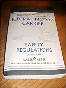 Federal motor carrier safety regulations code of for Federal motor carrier safety regulations