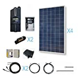 RENOGY 1200W Polycrystalline Cabin Solar Kit: 4 300W Poly Solar Panels (free upgrade to 310W) + 1 Midnite MPPT Controller + 2 Pairs of 40Ft MC4 Adaptor Kits + Combiner Box and 2 Breakers