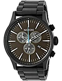 Nixon Men's A3862209 Sentry Chrono Analog Display Japanese Quartz Black Watch