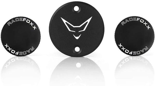 Racefoxx Deckelset Ausgleichsbehälter Bremsflüssigkeit Deckel Behälter Kupplungsflüssigkeit Für Ktm 1290 Schwarz Auto