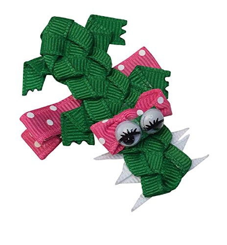 Bows for Belles Alligator Hair Bow Ribbon Sculpture (Pink) Made in the ()