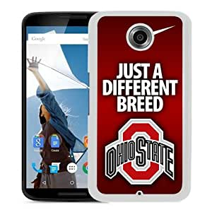 Ncaa Big Ten Conference Football Ohio State Buckeyes 5 White Recommended Customized Design Google Nexus 6 Case