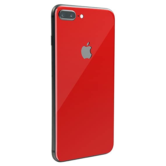 buy online 64f91 4cc88 Cherry Red Gloss SKINTZ Protective Skin Wrap Compatible with iPhone 8 Plus