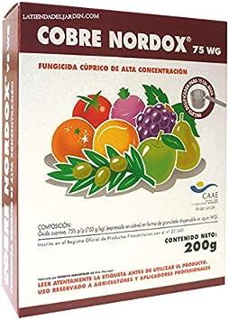Suinga PRODUCTO CONTRA HONGOS Y MOHOS PERJUDICIALES PARA LAS PLANTAS. Cobre Nordox de 200 gr, 75% oximo cuproso