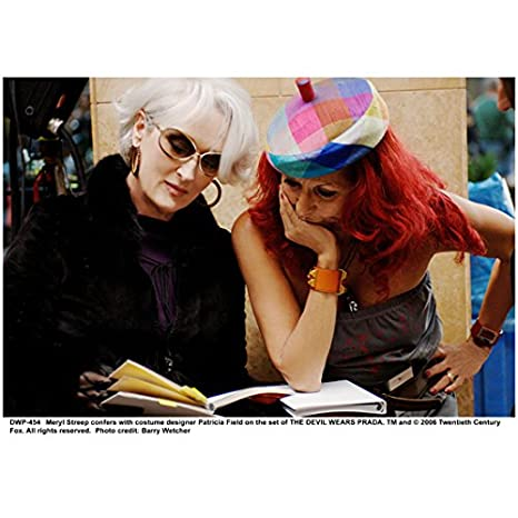 The Devil Wears Prada 8x10 Photo Meryl Streep & Patricia Field in Colorful Hat kn at Amazons Entertainment Collectibles Store