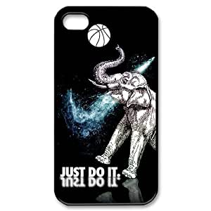 Elephant For Iphone 4/4S Case Cover over NIKE JUST DO IT Basketball
