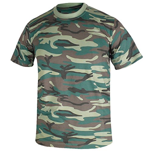 (myglory77mall Camouflag Military Digital Pattern Plain Crewneck Tshirt Top Tee US M(L tag) Camo Green)