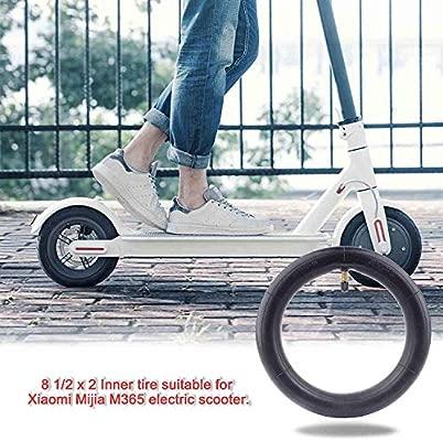 Hito Cámaras de Aire, Tubo Interior de Doble Capa de Ruedas de Patinete eléctrico Neumático Scooter Rueda Cámaras de Aire Compatible con para XiaoMi ...