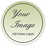 100 Custom Logo Stickers, Round Logo Labels, Business Labels - available in three size options