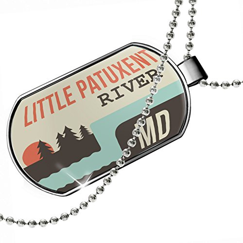 Dogtag USA Rivers Little Patuxent River - Maryland Dog tags necklace - - Patuxent Little