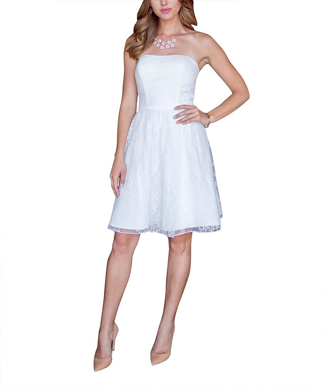 Dream Bride Brautjungfernkleid-Spitze / Satin-A-Linie-Knie-Lange ...