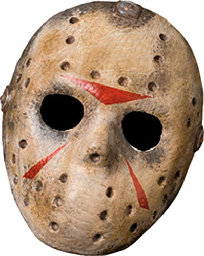 Friday The 13th Jason Voorhees Deluxe Eva Hockey Mask, Gray, One Size (Mime Masks For Sale)