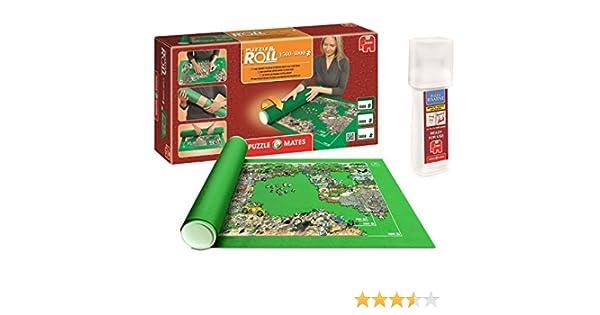 Outletdelocio. Pack Puzzle Roll 3000 XXL. Tapete Universal para Transportar/Guardar Puzzles hasta 3000 Piezas + Pegamento Puzzles: Amazon.es: Juguetes y juegos