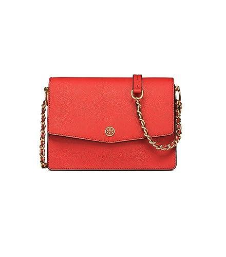 88a7860b8625 Amazon.com  Tory Burch Robinson Convertible Shoulder Bag (Poppy Orange)   Shoes