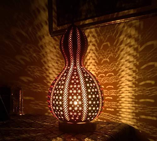 A Love in Japanese   Gourd Lamp Night Light Interior Home Decor Unique Birthday Anniversary Gift Idea Wall Art