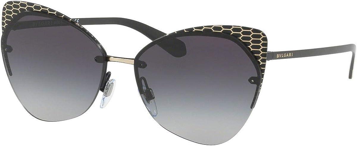 Bulgari BV6096 gafas de sol w/gris del gradiente de la lente de 58 mm 20288G BV 6096 mujer Negro Grande: Amazon.es: Ropa y accesorios