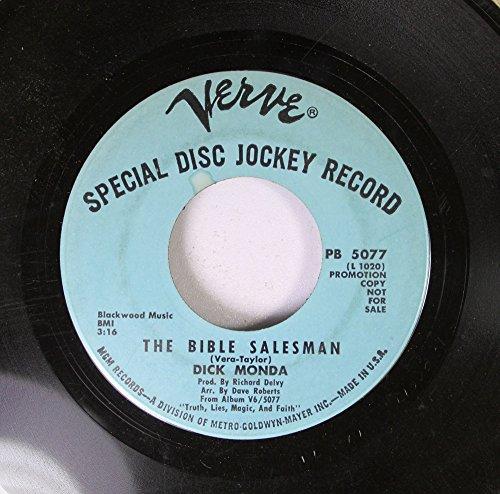 Dick Monda 45 RPM The Bible Salesman / River's End