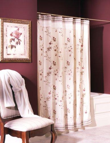 Croscill Rose Garden Shower Curtain (Croscill Stripes Curtain)