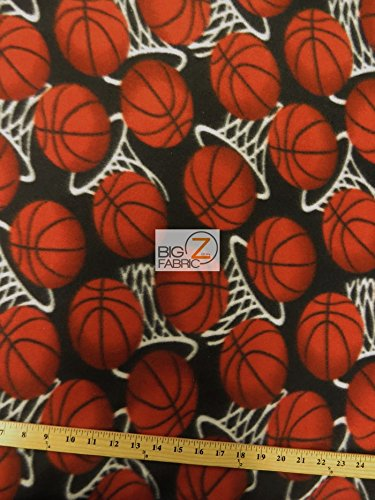 - Basketball Hoops Fleece Fabric Sold by The Yard Baby Blanket