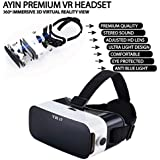 AYIN 3D Virtual Reality Glasses Premium HD Headset for 3D Movies & Games, Suitable for iPhone & Android Smartphones with 3.5-6.3 in Screen