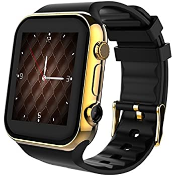 Scinex SW20 16GB Smart Watch for iPhone & Android - US Warranty (Gold/Black)