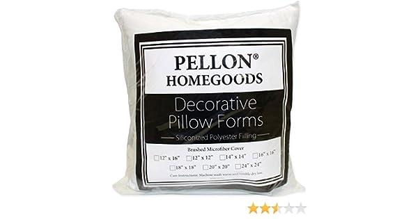 14 by 14 Pellon PPI14x14 Decorative Pillow Form White