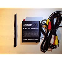 New Aomway 5.8G 32CH AV Audio/Video Receiver Built-in DVR Recorder