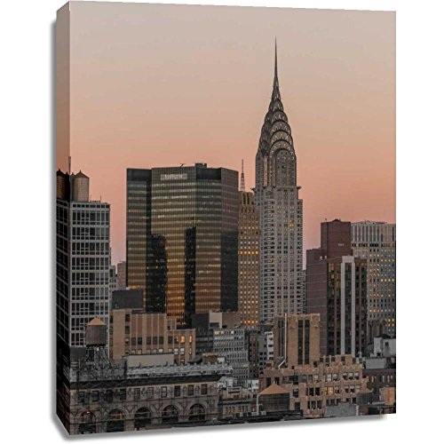 Print Mint The Canvas Print Wall Art - Assaf Frank - Chrysler Building in New York city - Architecture Places Cityscape Artwork on Canvas Stretched Gallery Wrap. Ready to Hang - 36x48″