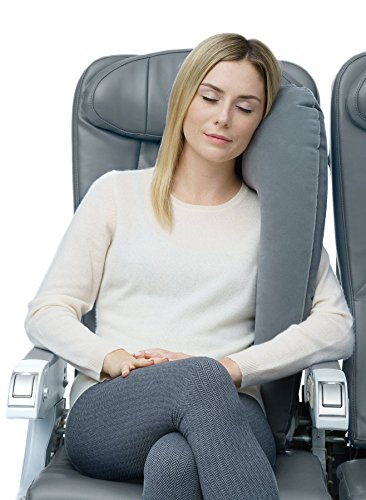 Travelrest - Ultimate Travel Pillow / Neck Pillow - Best Ergonomic, Patented & Adjustable Travel Accessories for Airplanes, Cars, Buses, Trains, Office Napping, Camping, Wheelchairs (Rolls Up Small)