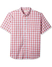 Men's Comfort Stretch Soft No Wrinkle Short Sleeve Button Front Shirt