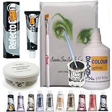 COMPLETE!! Eyelash Eyebrow Tint Dye Kit- REFECTOCIL Cream, oxidant, dish, etc. (No.1 Pure black) by KITLAS Cosmetics