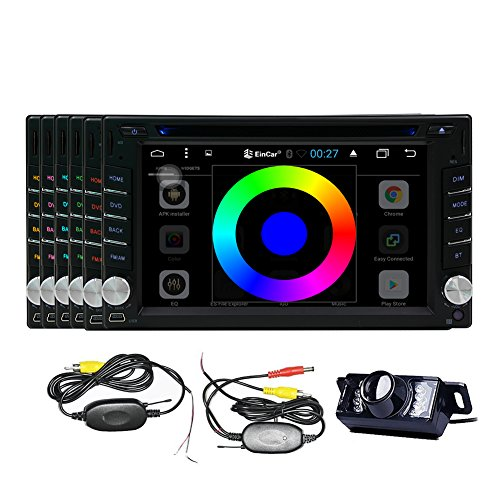 Cheap Android 6.0 Double Din 6.2inch Capacitive Touch Screen Car Stereo DVD Player Radio Quad-core 16G ROM In Dash GPS Navi Navigation + Free Backup Reversing Parking Camera