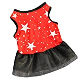 Small Dog Girl Dress,Wakeu Tutu Vest Clothes for Pet Puppy Apparel Summer (XS, Black)