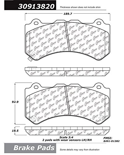 StopTech 309.13820 Street Performance Front Brake Pad