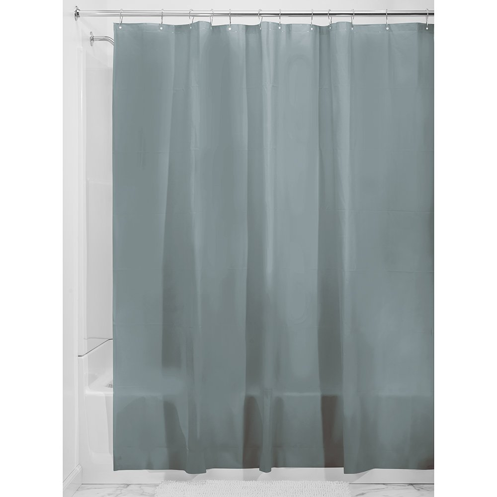 Bath Shower Smoke Grey Curtain Liner Grey Non Toxic Mold Resistant Waterproof